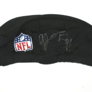 AJ Francis Miami Dolphins Training Camp Worn & Signed Black Skull Cap