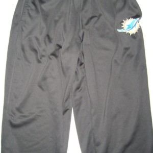 AJ Francis Player Issued Gray Miami Dolphins #96 Nike Therma-FIT Sweatpants