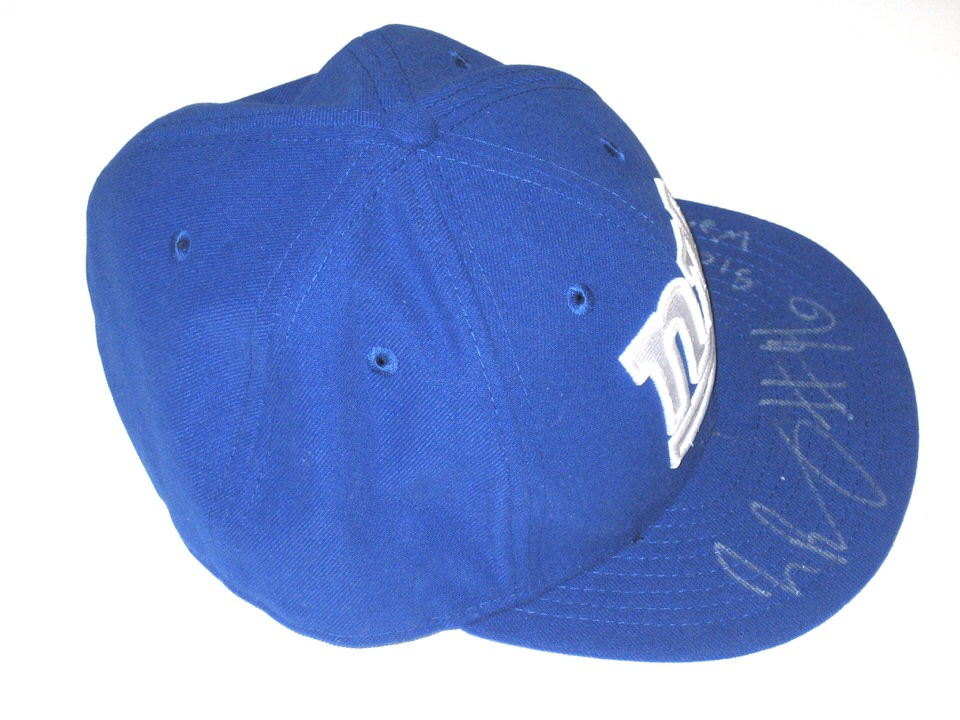 new product eb8ea 2d120 Jay Bromley Sideline Worn   Signed New York Giants New Era 59Fifty Hat