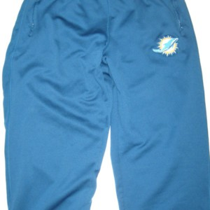 AJ Francis Player Issued Blue Miami Dolphins #96 Nike Therma-FIT Sweatpants