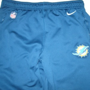 AJ Francis Player Issued Blue Miami Dolphins #96 Nike Therma-FIT 3XL Sweatpants