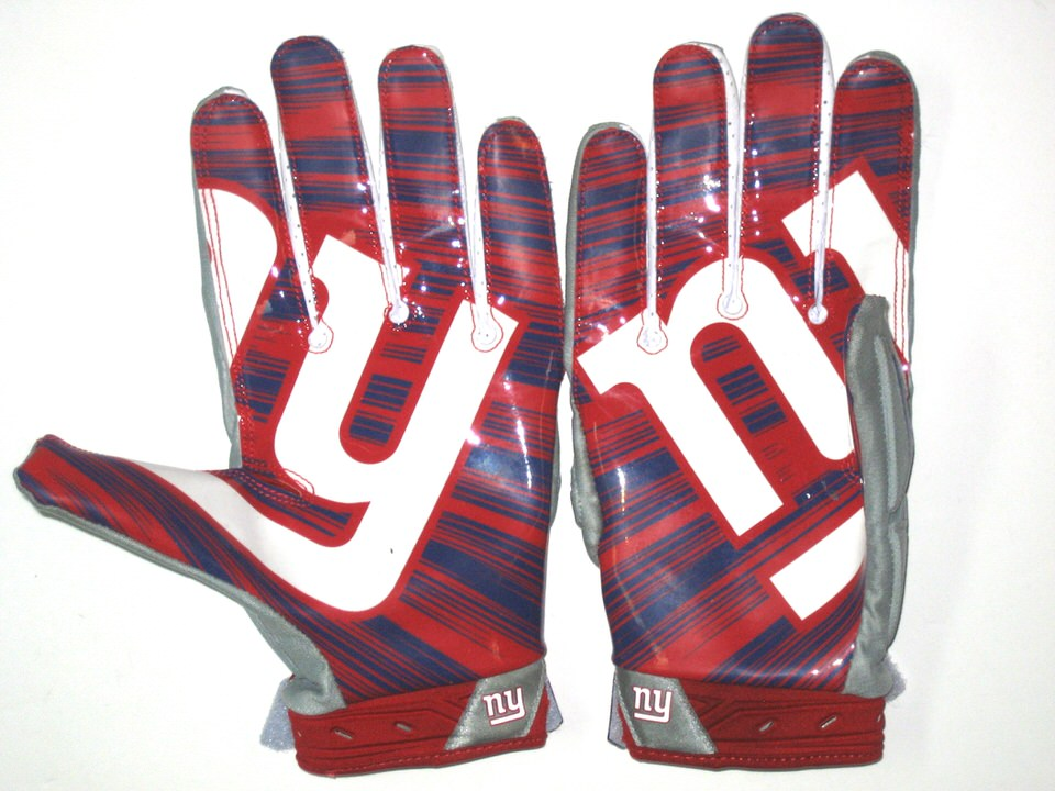 ... Jay Bromley Game Worn   Signed New York Giants Team Logo Nike Superbad  3XL Gloves f9d343f72