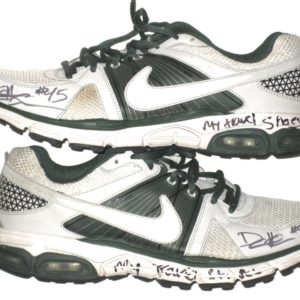 9c2627318 Darien Harris Michigan State Spartans Autographed White   Green Nike Travel  Shoes
