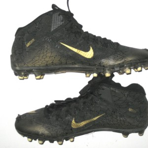 Arthur Moats Pittsburgh Steelers Game Worn & Signed Black & Gold Nike Alpha Cleats