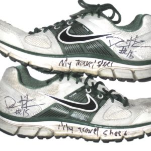08f080958 Darien Harris Michigan State Spartans Travel Worn   Signed White   Green  Nike Pegasus Sneakers