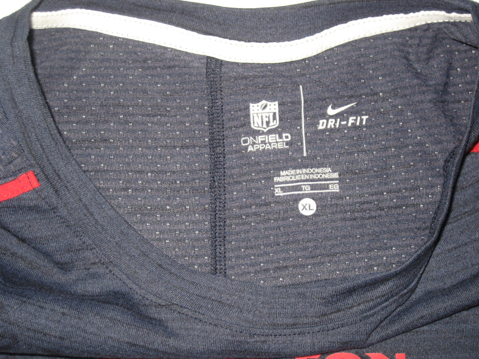 10d8ed1d ... Fiedorowicz 2016 Training Worn & Signed Houston Texans Nike Dri-Fit XL  Shirt CJ ...