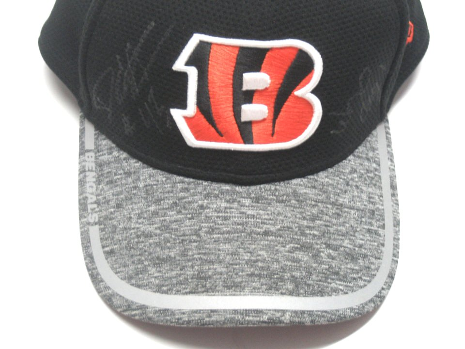 the best attitude ef06c 2aeb6 ... Hat Darien Harris Official 2016 Training Camp Worn   Signed Cincinnati  Bengals New Era 39THIRTY ...