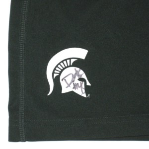 cheap for discount 63df0 cca29 Darien Harris Practice Worn   Signed Official Green   White Michigan State  Spartans Nike Dri-