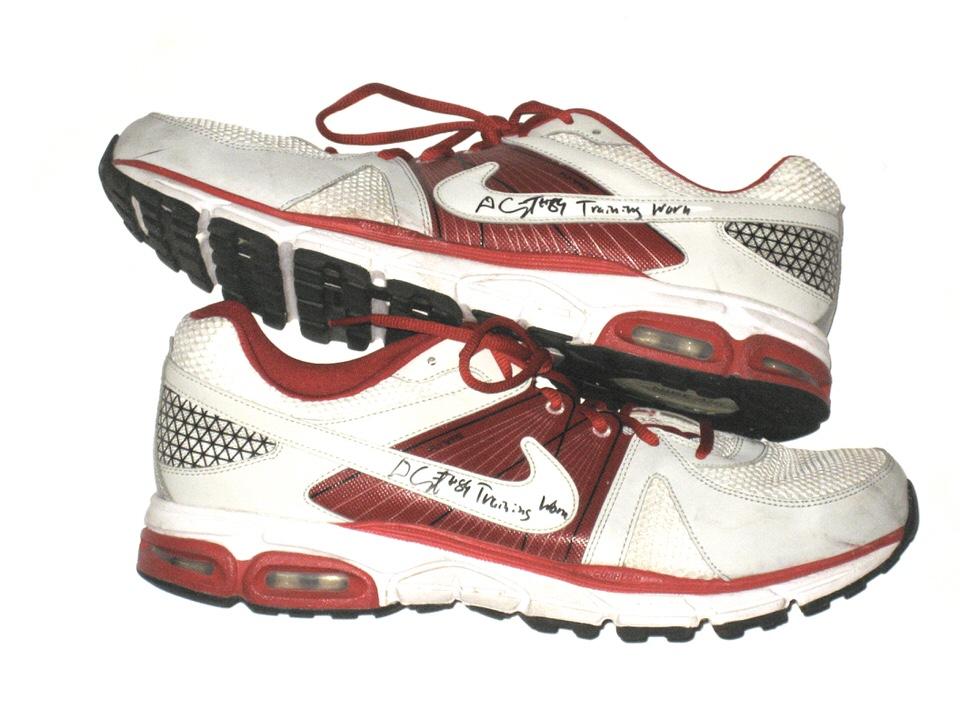 nieźle na sprzedaż online sportowa odzież sportowa Devon Cajuste Stanford Cardinal Training Worn & Signed Cardinal & White  Nike Air Max Moto 9 Shoes