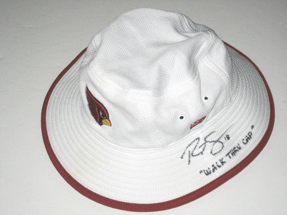 1ce6b7e5fe8 Ryan Spadola 2015 Training Camp Worn   Signed Arizona Cardinals New Era  Bucket Hat