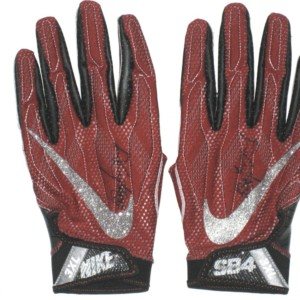 Devon Cajuste Game Worn & Signed Stanford Cardinal Tree Logo Nike Superbad 4.0 3XL Gloves