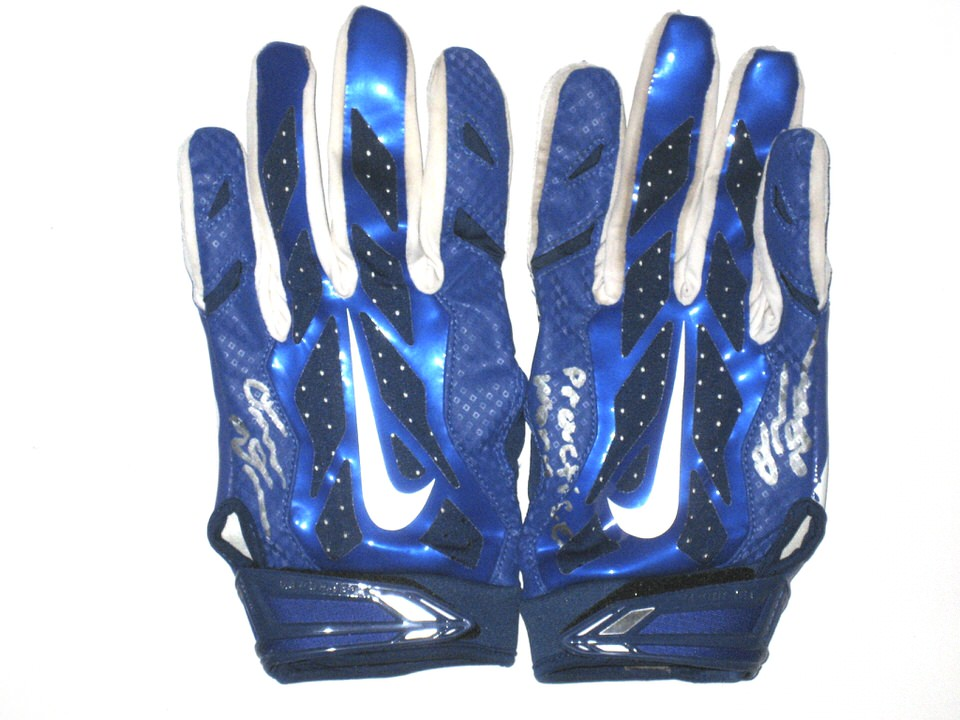 sale retailer 06c6f fcd6c Blue And White Nike Football Gloves - Disabilityafrica.Org ...