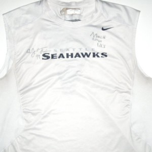 AJ Francis Player Issued & Signed Seattle Seahawks #99 Nike Sleeveless