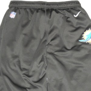 AJ Francis Training Worn Charcoal Gray Miami Dolphins Nike Therma-FIT 3XL Sweatpants