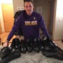 David Morgan Minnesota Vikings 2016 Rookie Practice Worn & Signed All-Black Adidas Cleats - Size 17