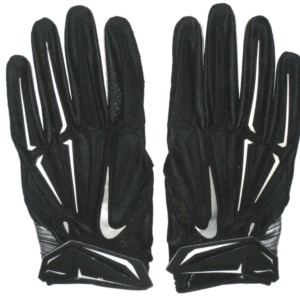 Devon Cajuste 2016 San Francisco 49ers Rookie Practice Worn & Signed Black & Silver Nike Superbad 3XL Gloves