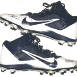 Orleans Darkwa 2016 New York Giants Game Used & Signed White & Blue Nike Alpha Pro Cleats
