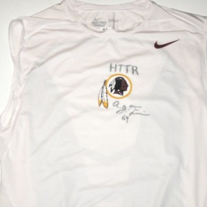 AJ Francis Player Issued & Signed Washington Redskins #97 Nike Pro Combat Compression Sleeveless