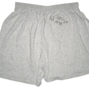 AJ Francis Washington Redskins Autographed & Worn Gray Cold Tub 3XL Shorts