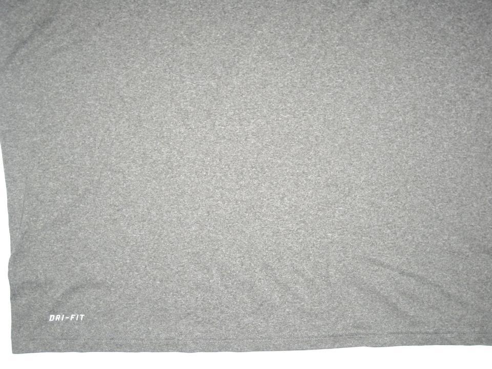 e217dd07 ... CJ Fiedorowicz 2016 Training Worn & Signed Gray Houston Texans Nike Dri- Fit XXL Shirt