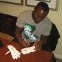 Orleans Darkwa 2016 New York Giants Game Worn & Signed White & Silver Nike Vapor Jet Gloves