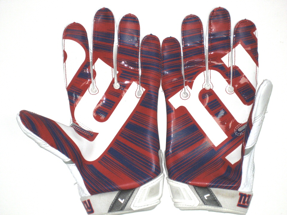 ... Trevin Wade 2016 Game Worn   Signed New York Giants Team Logo Nike  Large Gloves ... cc001c6ae