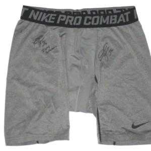 d767714e Darrel Young 2014 Washington Redskins Practice Worn & Signed Nike Pro  Combat XL Shorts