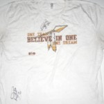 Darrel Young Training Worn & Autographed Washington Redskins ONE TEAM BELIEVE IN ONE DREAM Shirt
