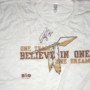 Darrel Young Training Worn Washington Redskins ONE TEAM BELIEVE IN ONE DREAM Shirt