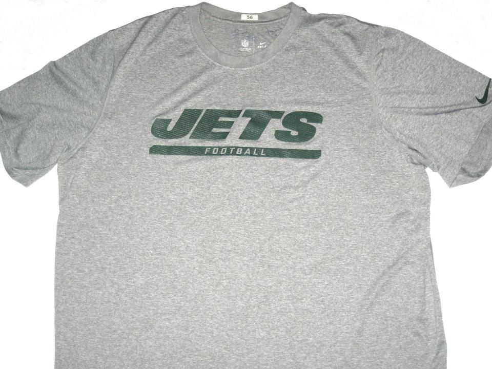 Demario Davis 2013 Training Camp Worn   Signed New York Jets Football  56 Nike  Dri 078c39d56