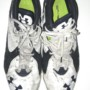 Storm Norton Toledo Rockets Game Worn & Signed White & Blue Under Armour Cleats - Size 18