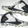 Storm Norton Toledo Rockets Game Used & Signed White & Blue Under Armour Cleats - Size 18