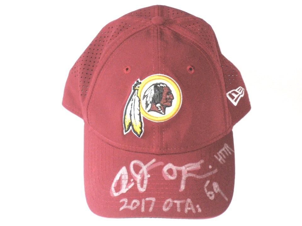 a355e667ff37f AJ Francis 2017 OTA s Worn   Autographed Washington Redskins New Era  9TWENTY Adjustable Hat