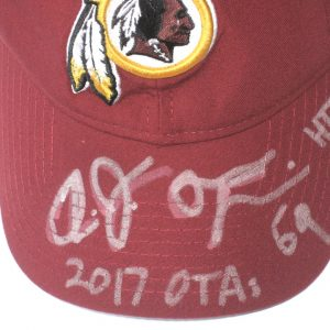 AJ Francis 2017 OTA's Worn & Signed Washington Redskins New Era 9TWENTY Adjustable Hat