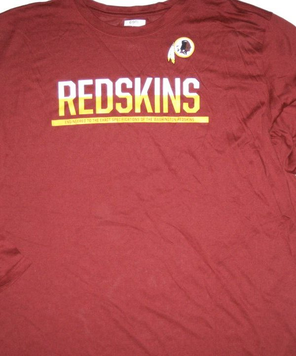 AJ Francis Player Issued Washington Redskins #69 Long Sleeve Nike Dri-Fit Shirt