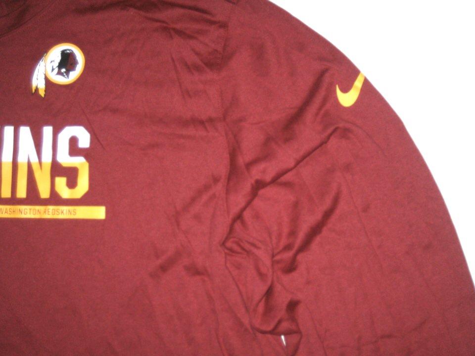 AJ Francis Player Issued Washington Redskins  69 Long Sleeve Nike Dri-Fit  3XL Shirt d438a9be7
