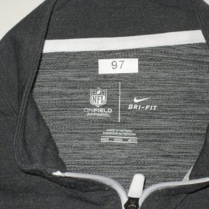 AJ Francis Official Player Issued Washington Redskins #97 Nike Dri-Fit 4XL Zip Up Sweatshirt - Worn On Sidelines for 2016 International Series London Game!