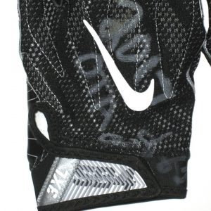 AJ Francis Washington Redskins 2017 OTA's Worn & Signed Black & White Nike Superbad 4.0 3XL Gloves