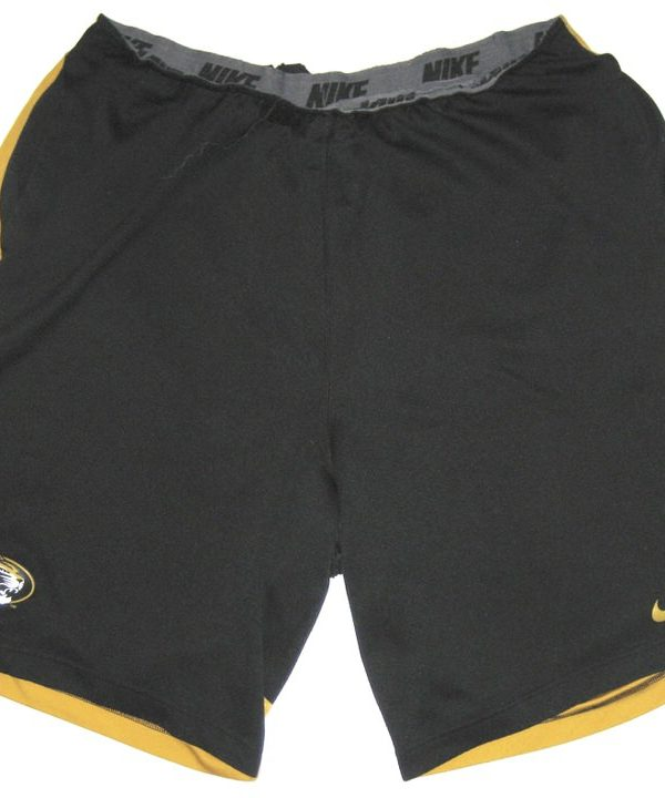 Josh Augusta Player Issued Official Black & Gold Missouri Tigers #97 Nike Dri-Fit Shorts