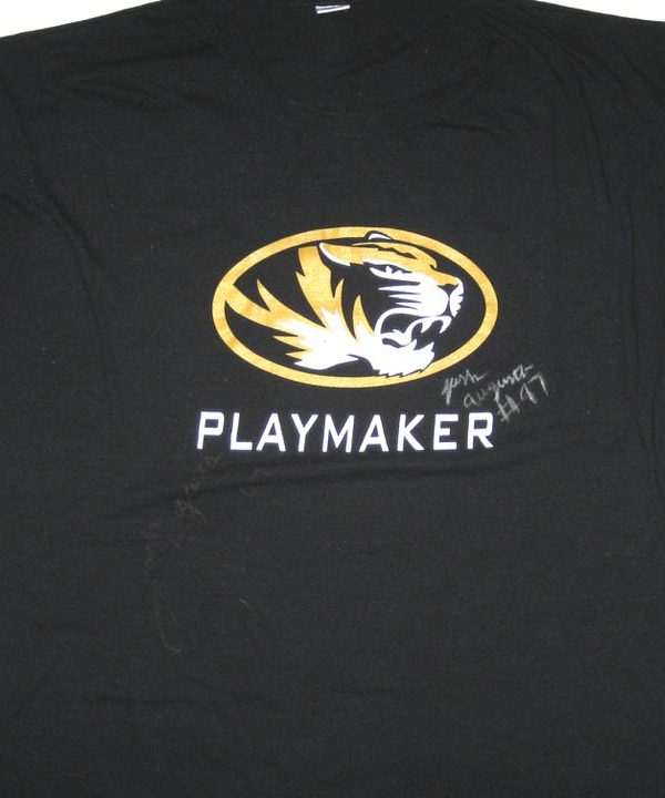 Josh Augusta Training Worn & Signed Black Missouri Tigers PLAYMAKER Russell Shirt