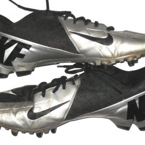 Lawrence Virgil Valdosta State Blazers Game Worn & Signed Black and Silver Nike Cleats