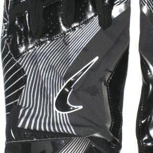Darren Fells Arizona Cardinals Game Worn & Signed Black & Silver Nike 3XL Gloves