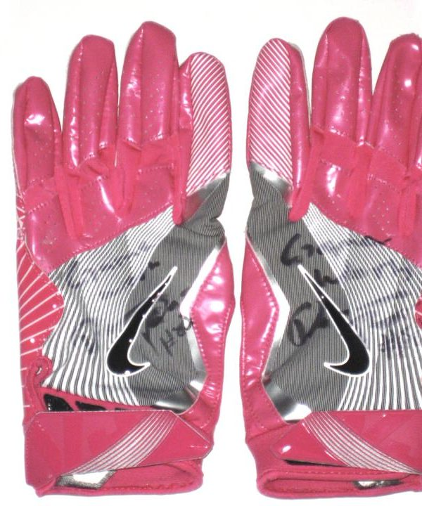 the latest 5a33a 2e27c Darren Fells Arizona Cardinals Game Worn   Signed Pink Breast Cancer  Awareness Nike Gloves