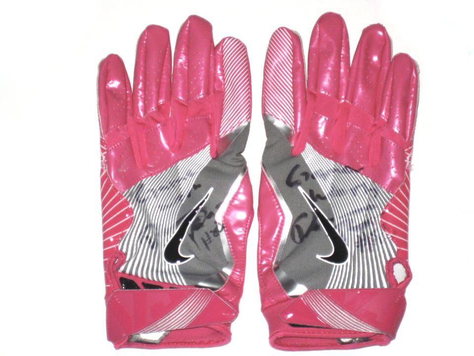 520a7279d99e Darren Fells Arizona Cardinals Game Worn   Signed Pink Breast Cancer ...