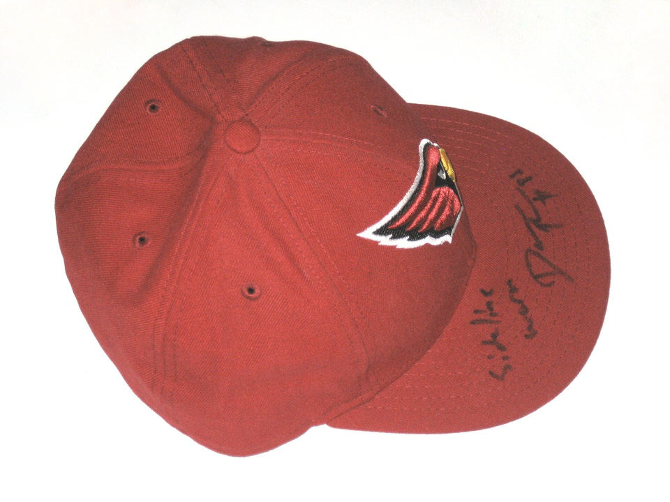 ... Darren Fells Sideline Worn   Signed Arizona Cardinals New Era 59Fifty  ... c8ed7f4f929
