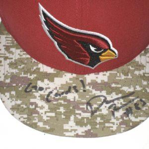 Darren Fells Sideline Worn & Signed Arizona Cardinals Salute to Service New Era 59FIFTY Hat
