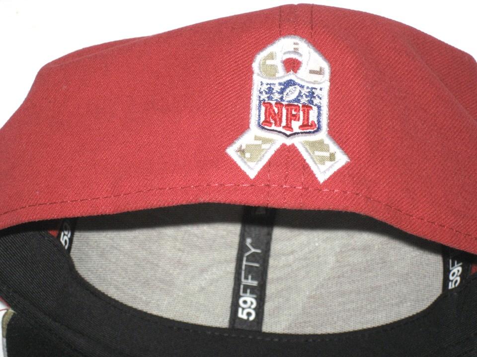 ... Darren Fells Sideline Worn   Signed Arizona Cardinals Salute to Service  New Era 59FIFTY ... e1ac324e4df8