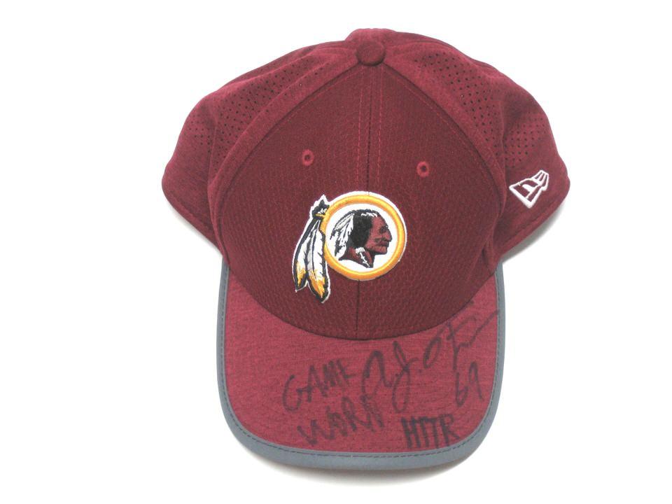2c2bfe822f2 AJ Francis 2017 Sideline Worn   Signed Official Washington Redskins New Era  39THIRTY Hat