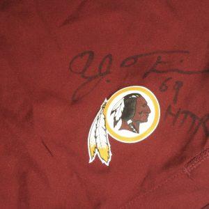 AJ Francis Player Issued & Signed Official Washington Redskins #69 Nike Sideline Vapor Performance 4XL Shorts