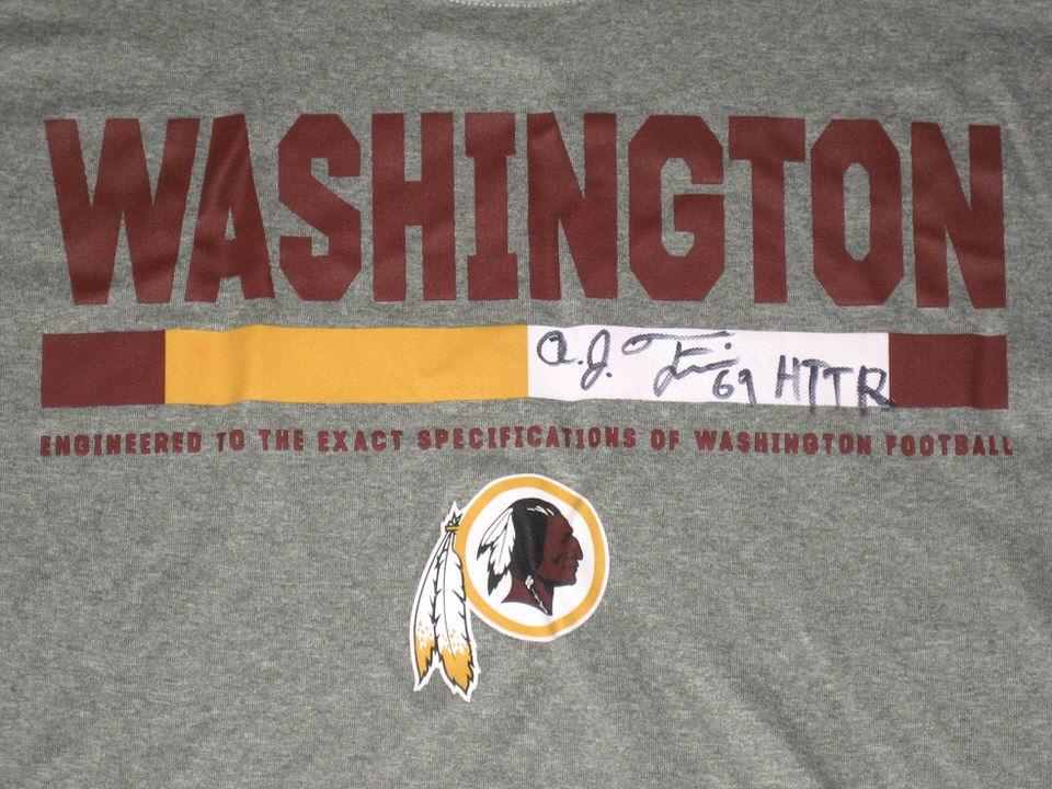 ... Francis Player Issued   Signed Washington Redskins  69 Long Sleeve Nike  Dri-Fit AJ ... 882334fa6